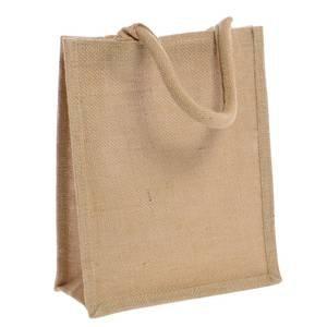 "Tote Bags Small Jute 9"" x 4"" x 11"" (W x D x H) 6 Per Bag"