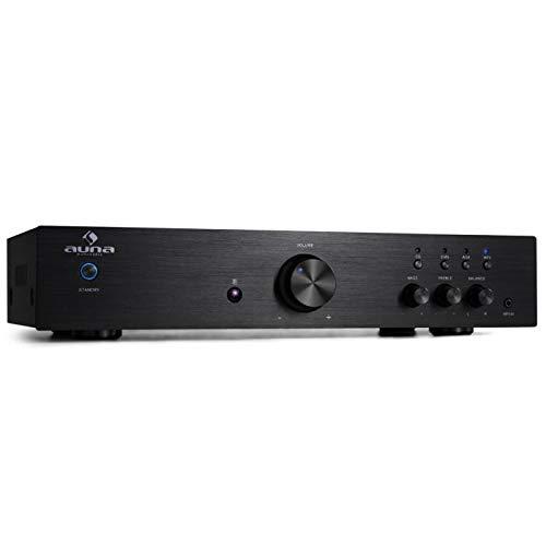 auna AV2-CD508 - Amplificador de Alta definición , Sonido Hi-fi , HomeCinema estéreo , Ecualizador de 2 Bandas , Rendimiento 600W , Entrada AUX , ...