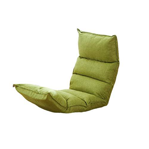 Tengxiang Lazy Sofa Lounge Sofa Bed Folding Adjustable Floor Lounger Sleeper Futon Mattress Seat Chair W/Pillow Bean Bags (Color : Green)