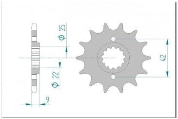 Afam Ritzel Teilung 520 Zähne 13 Für Kawasaki Ex 250 R Ninja Ex250k Bj 2011 Maße Welle 22 25mm Lochkreis Sicherungsblech 42mm Höhe Versatz 9mm Auto