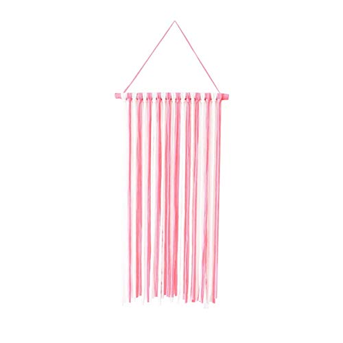 b3341ce58317 Rainbowie Hair Bow Holder Hair Clips Hanger Storage Organizer for Baby  Girls Pink and White 58x30cms/22.8x11.8inches