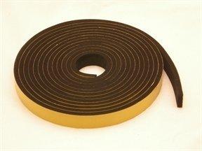 "NEOPRENE RUBBER Self Adhesive Strip : 3/4"" wide x 1/4"" thick x 33 feet long"