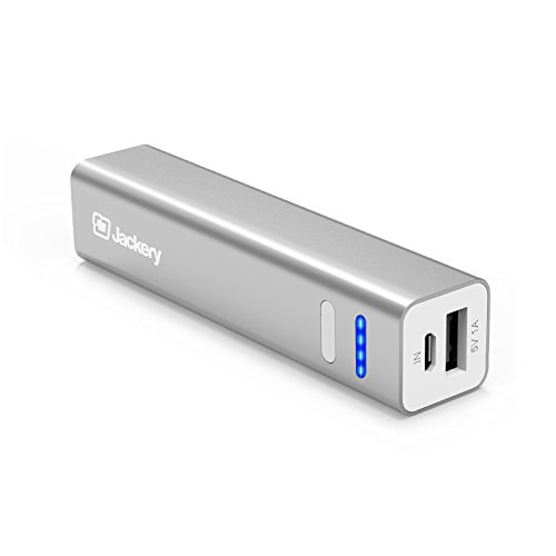 Jackery Mini Portable Charger 3200mAh - External Battery Pack, Power Bank, & Portable iPhone Charger for Apple iPhone 7, 7 Plus, 6 Plus, 6, 5, iPad Air, iPad Mini, Samsung Galaxy S6, and S5 (Silver)