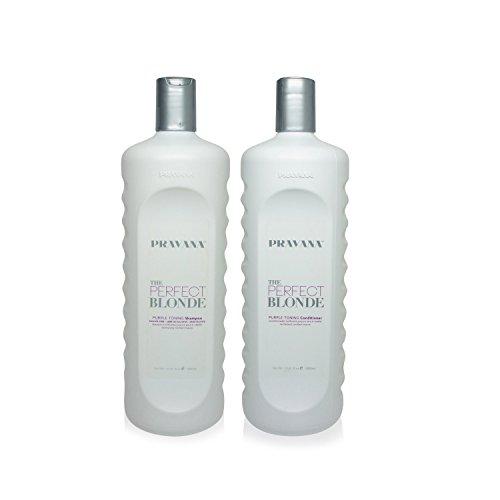 Moisture Blonde Shampoo (Pravana The Perfect Blonde Purple Toning Shampoo and Conditioner Set (33.8 fl oz each))