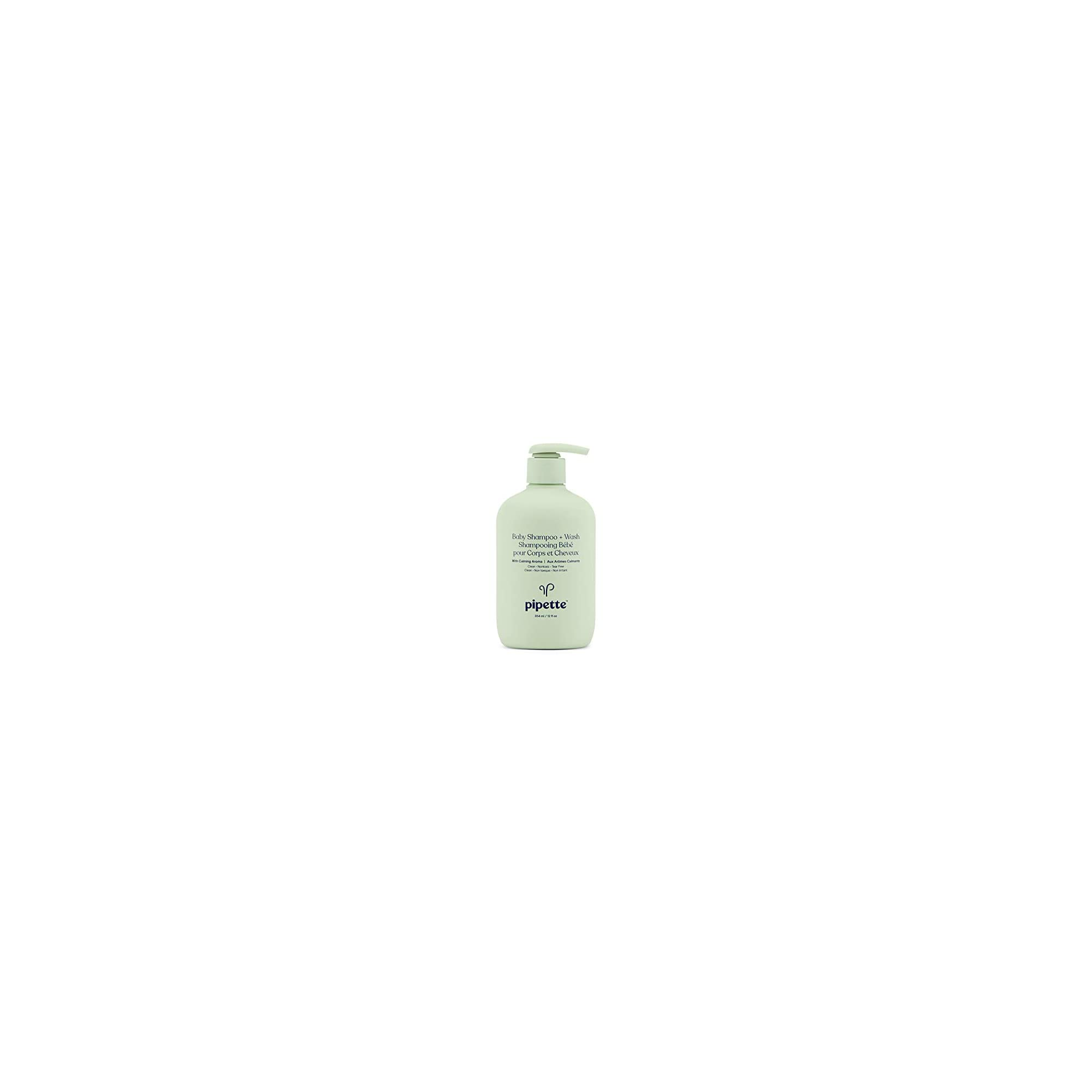 Pipette Baby Shampoo and Body Wash Tear-Free with Renewable Plant-Derived Squalane (Calming, 12-Fluid-Ounce)