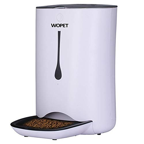 Auto Feeder - WOpet 7L Pet Feeder, Automatic Pet Feeder for Cats and Dogs,Auto Pet Feeder Food Dispenser–Features Distribution Alarms, Portion Control & Voice Recorder and Timer Programmable