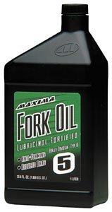 Maxima 54901 Fork Oil 5W - Liter Bottle by Maxima
