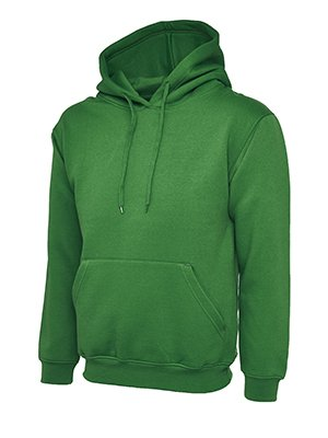 Makz - Uneek Herren Klassisches Kapuzen Sweatshirt Verde - Kelly green uL7At4wxIu