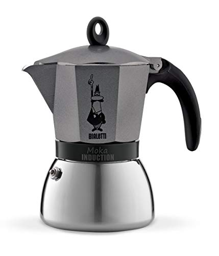Bialetti 4823 Moka Induction Espresso Maker, Anthracite