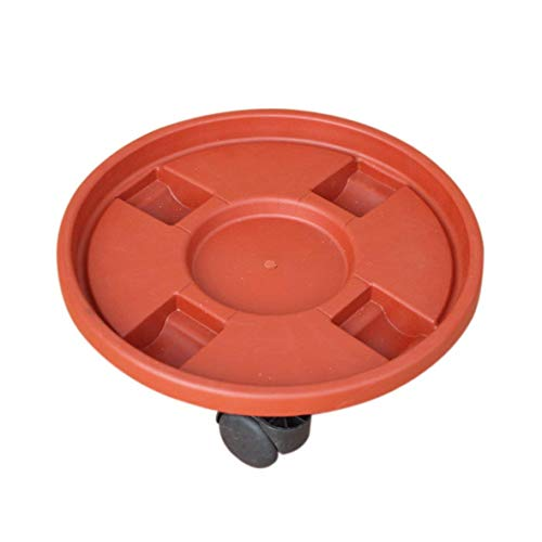 (Round Plant Dolly with Wheels Plant Caddy and Water Container for Balcony Garden/Office/Home Gardening/Nursery)