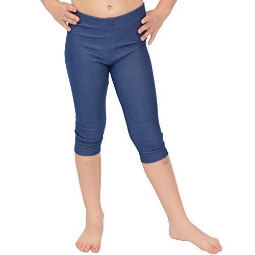 Stretch is Comfort Girl's Capri Leggings Dark Denim Small ()