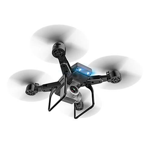 SEN Telecamera Professionale KY606D RC Pieghevole Drone FPV Elicottero 4K con 3 batterie Nero