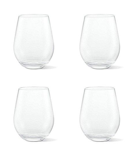 - Tritan Unbreakable Plastic Stemless Wine Glass Tumbler Set, 4-Pack, 20 Ounces