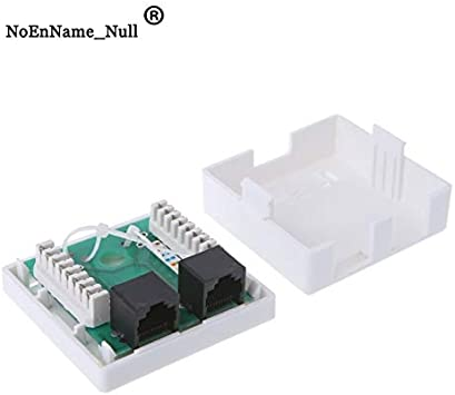 Cable Length White ShineBear 2-Port Cat6 Inline RJ45 Wall Coupler RJ45 Junction Box CAT6 Network Connector 2 Port Desktop Extension Cable Box Wholesale