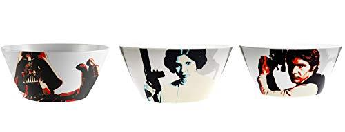 Zak Designs Classic Star Wars Darth Vader Han Solo Princess Leia 6 Inch Plastic Soup Bowl Set of 3 ()