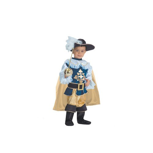 Dress Up America Boys Deluxe Musketeer kids - Small 4-6 -