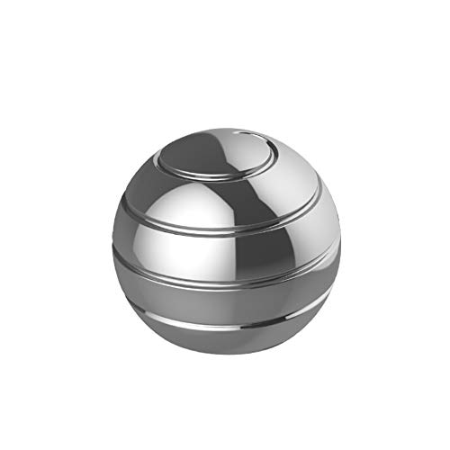 Pasizoe Home Office Desk Fidget Toy Visual Illusion Spinner Metal Ball Sphere Gyroscope 45mm 55mm, for Adults Kids Kill Time, Anti-Anxiety, Keep Focus, Relaxing