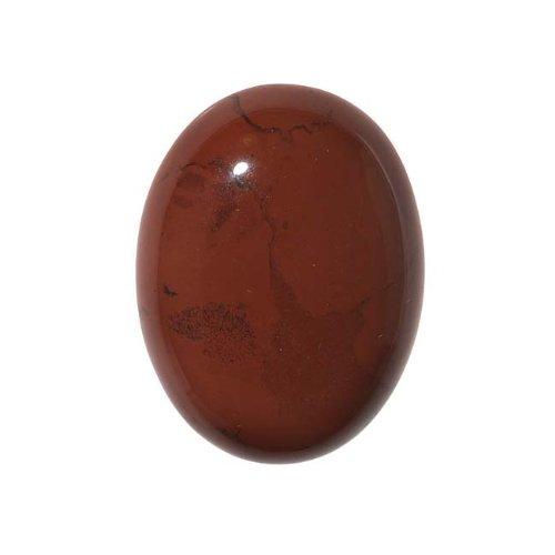 Beadaholique Red Jasper Gemstone Oval Flat-Back Cabochons 25x18mm (1 Piece)