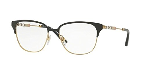 Burberry Women's BE1313Q Eyeglasses Black/Light Gold 53mm