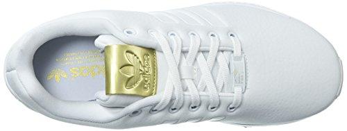 Corsa Originals Flusso Zx Donne W Metallizzato Delle scarpe Bianco Adidas Bianco Da Oro 8fSdq8
