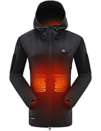 Heated Jacket with 7.4V Battery Pack Winter Outdoor Soft Shell Electric Heating Coat