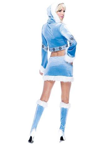 Paper Magic Womens French Kiss Eskimo Costume, Blue/White,