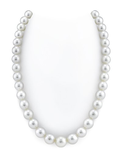 14K Gold 10-13mm Australian White South Sea Cultured Pearl (White Australian South Sea Pearl)