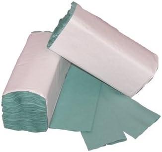 600 x Green Paper Hand Towels C fold High Quality Hand Towels