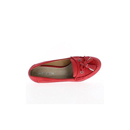Mocassins rouges à talons hauts de 9,5 cm et plateau de 1,5cm