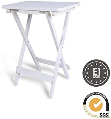 Koop Het Beste Huahua stoel eindtafels, opvouwbare snackbank, verschillende salontafels aan de woonkamertafel - natuurlijk hout,45 * 30 * 61 CM  wt475G8