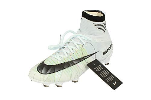 Nike Junior Mercurial Superfly V CR7 DF FG Football Boots 922586 Soccer Cleats (UK 3.5 us 4Y EU 36, Blue Tint Black White Volt 401)