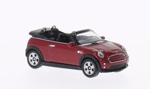 Mini Cooper S Convertible, red, Model Car, Ready-made, Welly 1:87
