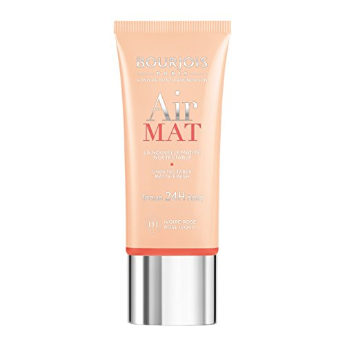 Bourjois Air Mat Undetectable Matte Finish 24H Foundation For Women, 0 Rose Ivory, 1 Ounce
