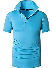 jeansian Men's Sport Outdoor Quick Dry Fit Short Sleeves Polo Tee Shirt Tshirt T-Shirt Tops Golf Tennis Bowling LSL195