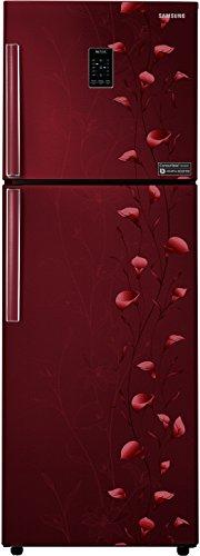 Samsung 318 L 3 Star Frost Free Double Door Refrigerator RT34K3983RZ/HL, Tender Lily Red, Convertible, Inverter Compressor