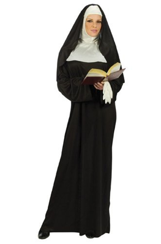 FunWorld Mother Superior Nun, Black, One Size (Standard)