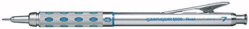 Pentel Graph Gear 1000 Automatic Drafting Pencil, 0.7mm Lead Size, Blue Barrel, 1 Each (PG1017C) (Refill Pen Propelling)