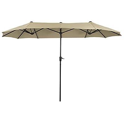 PHI VILLA 13 FT Outdoor Patio Umbrella Double-Sided Market Umbrella
