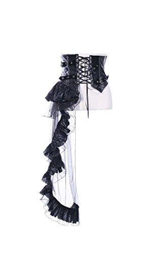 Steampunk Girls Lingerie Girdle Waist Trainer Cinchers Corset Shapewear Black