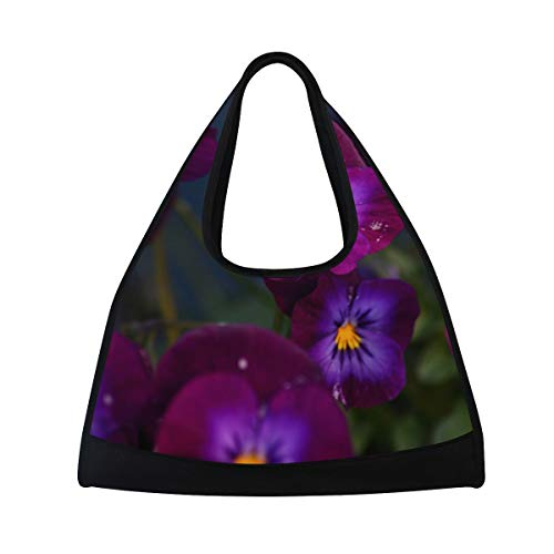 Gym Bag Spring Is Just Ahead Women Yoga Canvas Duffel Bag Sports Tote Bags for Girls