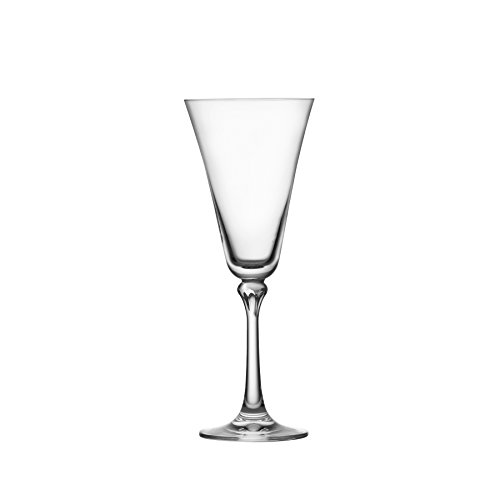 Schott Zwiesel Tritan Crystal Glass Charlotte Stemware Collection White Wine Glasses (Set of 4), 10 oz, Clear (Crystal Faceted White)