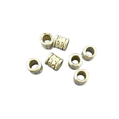 Housweety Bijoux 80 perles intercalaires Tube 6*6mm