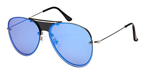 Edge I-Wear Men's Modern Aviators w/Color Mirror Lens - Couture Sunglasses Haute
