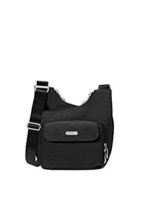 Baggallini Criss Cross Travel Crossbody Bag, Black