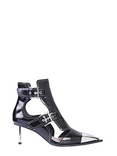 (Alexander McQueen Women's 571300Whv7c1090 Black Leather Heels)