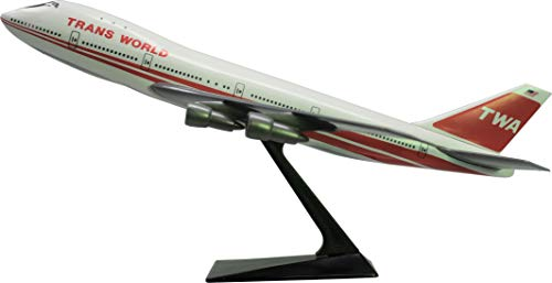 Flight Miniatures TWA Trans World Airlines Boeing 747-100 1:250 Scale 1974 Livery Display Model with Stand