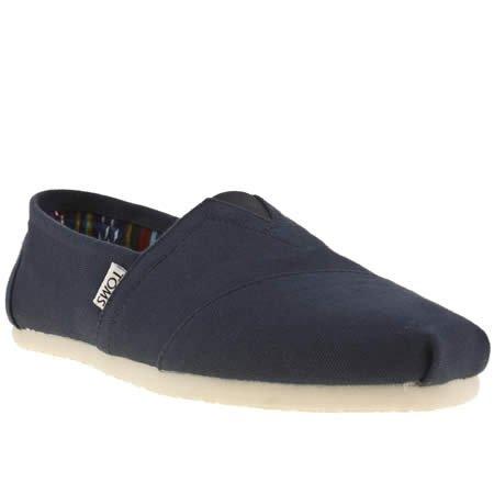 TOMS - Alpargatas para Hombre Azul Azul Marino: Amazon.es: Zapatos y complementos
