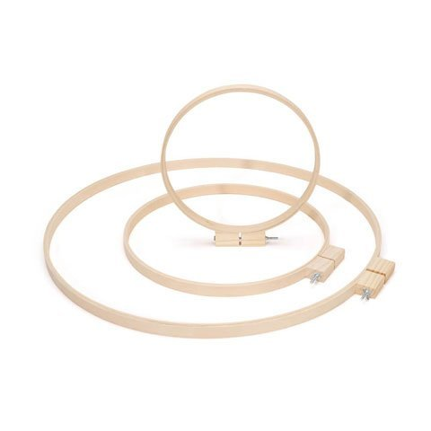 Bulk Buy: Darice DIY Crafts Wood Quilting Hoops Round 14 inches (6-Pack) 3979 by Darice
