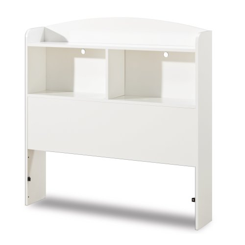 South Shore Logik Collection Bookcase Headboard, Pure White