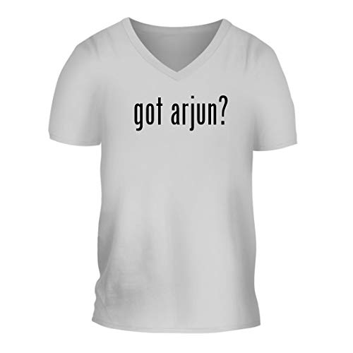 got Arjun? - A Nice Men's Short Sleeve V-Neck T-Shirt Shirt, White, Large